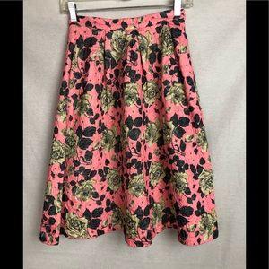 Forever 21 midi rose skirt